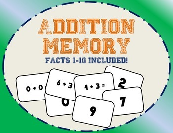 Addition Memory: Facts 0-10 Included