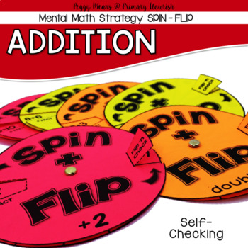 Addition Mental Math Strategy Spinners