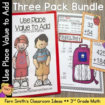 Addition Multi-Digit Numbers To 1000 Bundle