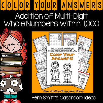Color By Numbers Addition of Multi-Digit Whole Numbers Wit