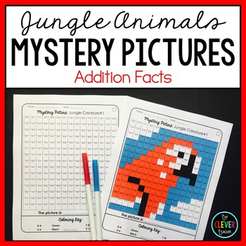Mystery Pictures Addition (Jungle)