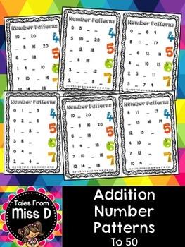 Addition Number Patterns