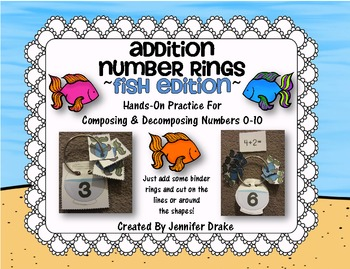 Addition Number Rings 0-10 ~Fish Edition~ Hands-On Center