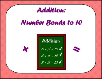 Addition: Number bonds to 10
