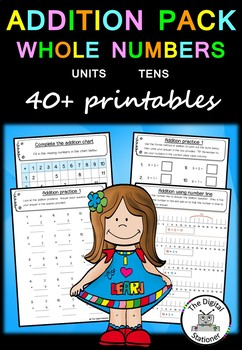 Addition Pack Whole Numbers (Units and Tens)  – 40+  works