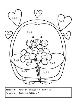Valentine Addition Penguin