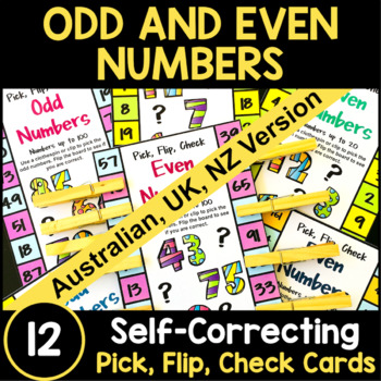 Odd and Even Numbers Pick, Flip and Check Cards [Australia