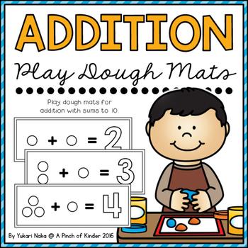 Addition Play Dough Mats