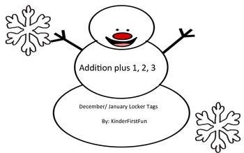 Addition Plus 1, 2, 3 Snowmen for December/ January
