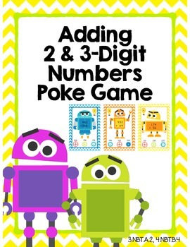 Addition Poke Game (2 & 3 Digit Numbers)