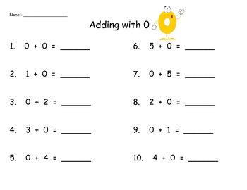 Addition Practice 0-5