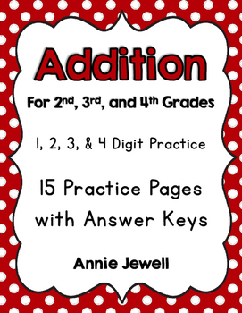 Addition Worksheets For 2nd, 3rd, and 4th Grades