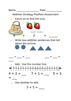Addition Pre and Post assessment