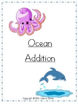 Addition Problem File Folder Game (OCEAN THEME)