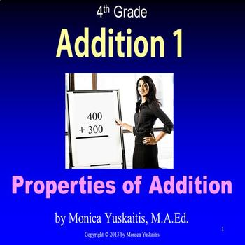 Common Core 4th - Addition 1 - Properties