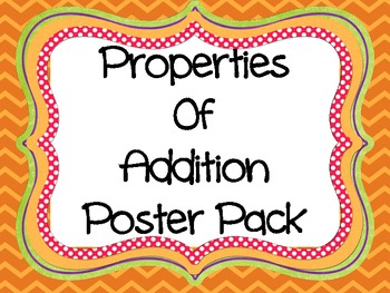 Addition Properties Poster Pack by Abby E | Teachers Pay Teachers