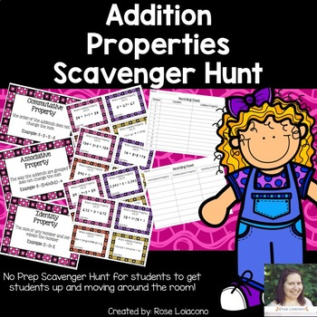 Addition Properties Scavenger Hunt