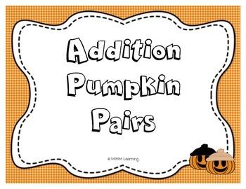 Addition Pumpkin Pairs - Game
