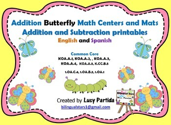 Addition Puzzle Center and Mats - Subtraction Bilingual St