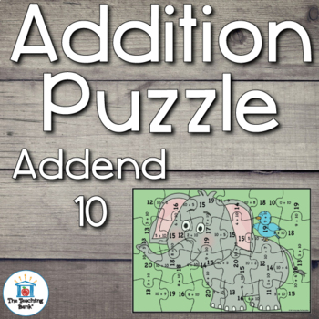 Addition Puzzle for Addend 10