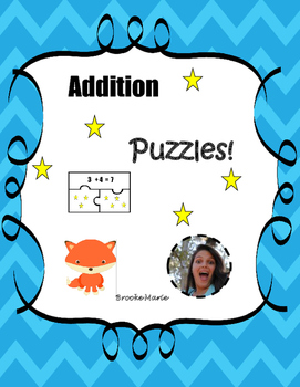 Addition Puzzles MAFS.K.OA.1.4