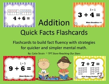 Addition Quick Facts Flashcards