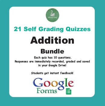Addition Quiz with Google Forms - Bundle
