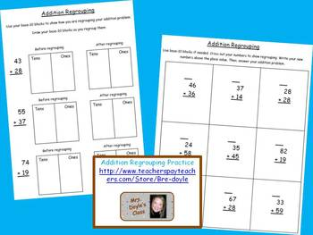 Addition Regrouping Practice