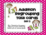Addition Regrouping Task Cards Set 2