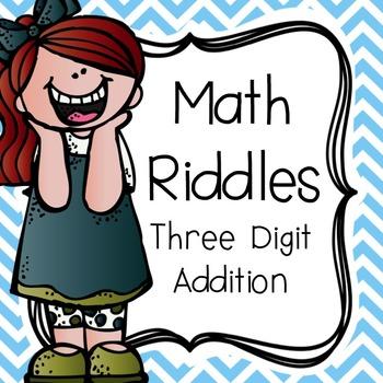 Math Riddles: Three Digit Addition