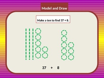 Addition Solve Two-Digit Problems by Making Tens from Ones
