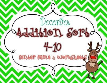 Addition Sort for Centers in December