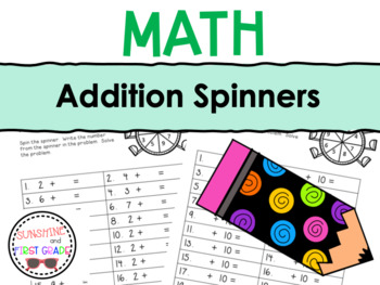 Addition Spinners Bundle