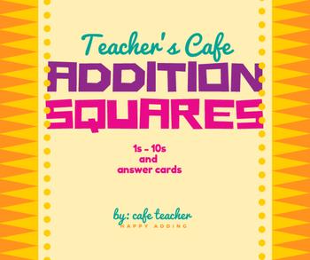 Addition Squares 1s