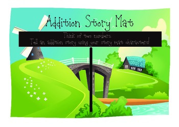 Addition Story Mats Math Workstation (Spring Theme)