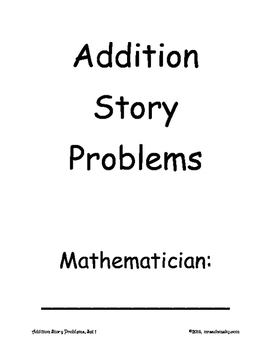 Addition Story Problems within 20 in Template, Set 1