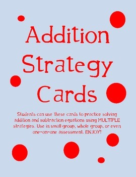 Addition Strategy Cards
