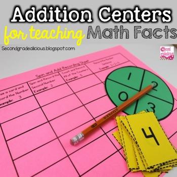 Addition Math Centers