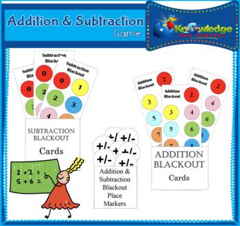 Addition & Stubraction Blackout Game