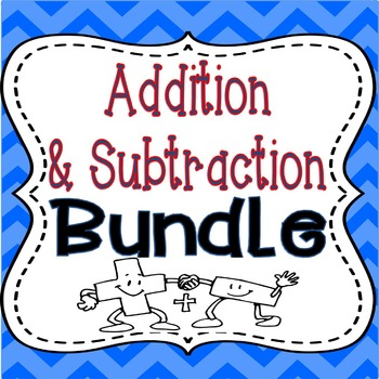 Addition & Subtraction BUNDLE: 2 Products LOADED with Game
