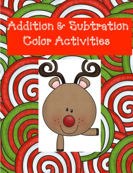 Addition & Subtraction Coloring Activities