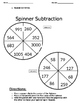 Addition & Subtraction Contract and Spinners