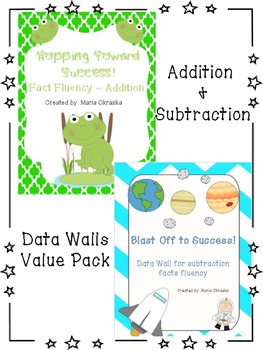 Addition & Subtraction Data Walls (Value Pack)