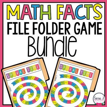 Addition & Subtraction Facts File Folder Games Bundle