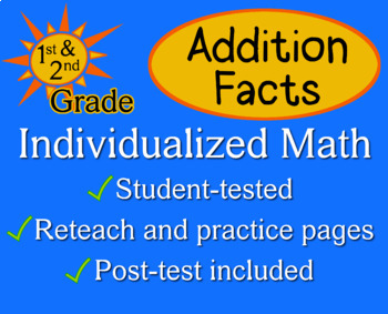 Addition & Subtraction Facts - Individualized Math - worksheets