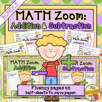 Addition & Subtraction Fact Fluency BUNDLE