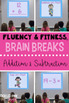 Addition & Subtraction Math Facts Fluency & Fitness Brain