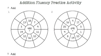 Addition & Subtraction Fluency Worksheets