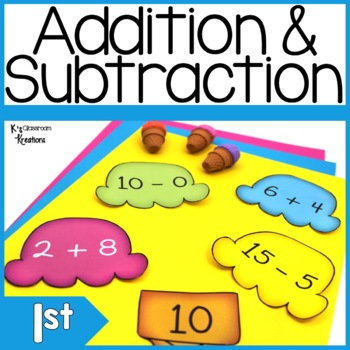Ice Cream Addition and Subtraction Math Center