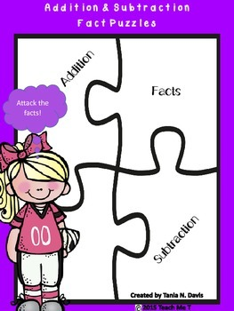 Addition & Subtraction Mixed Facts Puzzles